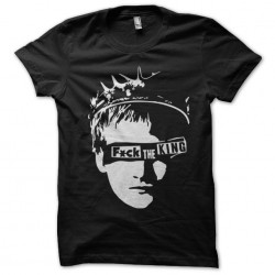 tee shirt fuck the king black sublimation
