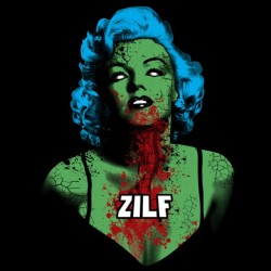 shirt marilyn monroe zombie black sublimation