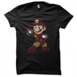 t-shirt iron mario black...