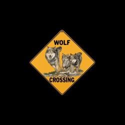 Wolf Crossing panel t-shirt...