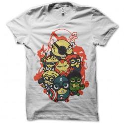 T-shirt Minions rare Avengers white sublimation