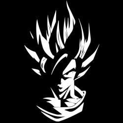 t-shirt goku shadow design black sublimation