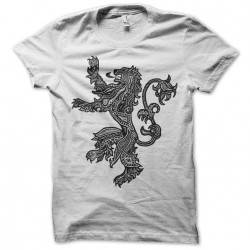 shirt of game of thrones house lannister white sublimation