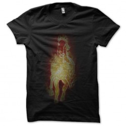 fire horse tee shirt black...