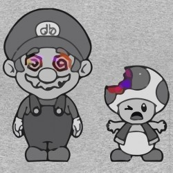 t-shirt mario bros grow gray sublimation