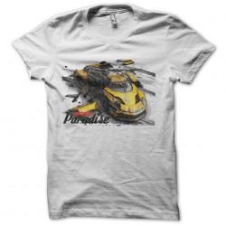 Burnout 1 white sublimation t-shirt