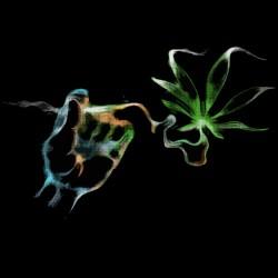 marijuana shirt smoke color black sublimation