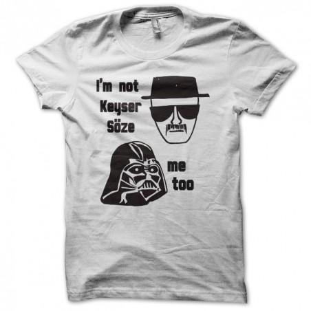 T-shirt Keyser Söse Heisenberg Darth Vader white sublimation