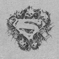 tee shirt superman skull gray sublimation