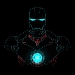 t-shirt iron man design black sublimation