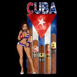 Cuba black sublimation t-shirt