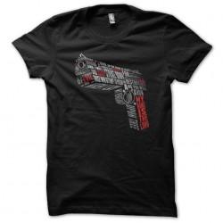 MNITL text gun t-shirt...