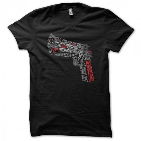 MNITL text gun t-shirt black sublimation