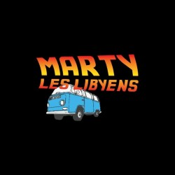 T-shirt Marty the Libyans parody Back to the Future black sublimation