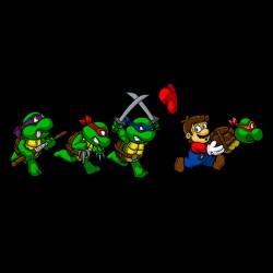 Funny Ninja Turtles t-shirt black sublimation