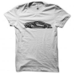 tee shirt supercars art white sublimation