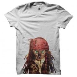 t-shirt cat sparrow white sublimation