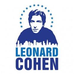 t-shirt leonard cohen white...
