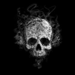 smoke skeleton t-shirt black sublimation