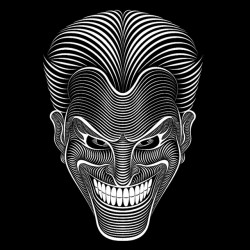 joker t-shirt design black sublimation