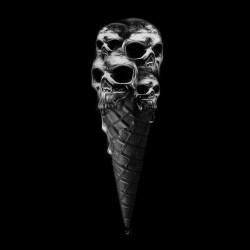 tee shirt skull ice cream black sublimation