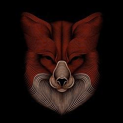 t-shirt fox design art black sublimation