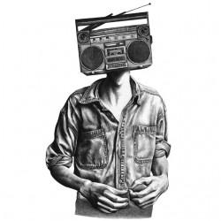 t-shirt radio head white sublimation