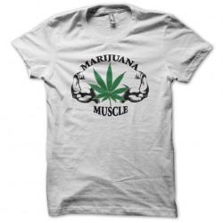 Marijuana Muscle T-Shirt white sublimation