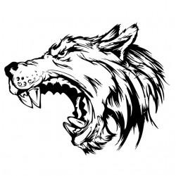 tee shirt wolf design art...