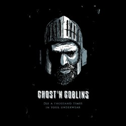 tee shirt ghost'n goblins black sublimation