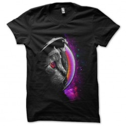 tee shirt spacecat black...