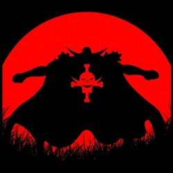t-shirt anime red moon black sublimation