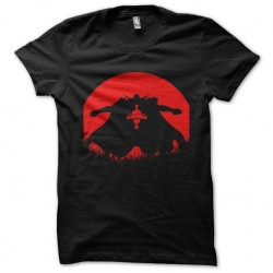 t-shirt anime red moon...