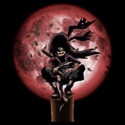 Itachi Moon black sublimation t-shirt