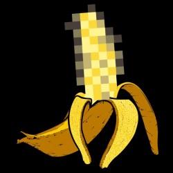 t-shirt banana censor black sublimation