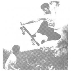 tee shirt bruce lee skateboard white sublimation