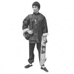 tee shirt Bruce Lee skate sliding white sublimation
