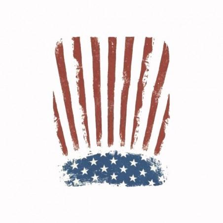 Tee shirt drapeau américain vintage  sublimation