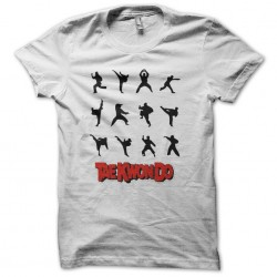 TKD white sublimation t-shirt