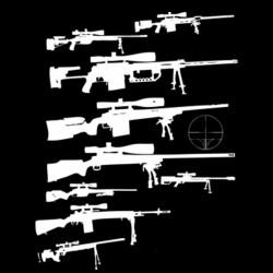 T-shirt Sniper gun black...