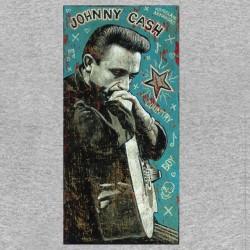 t-shirt johnny cash vintage gray sublimation