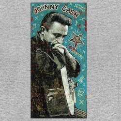 tee shirt johnny cash vintage gris sublimation