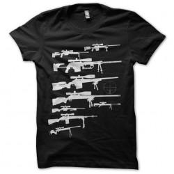 T-shirt Sniper gun black sublimation