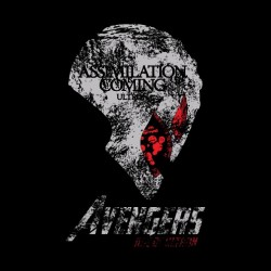 avengers assimilation is t-shirt black sublimation