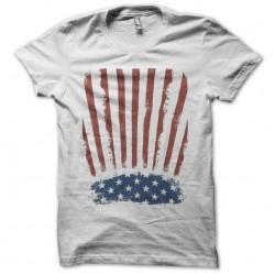 American vintage white sublimation flag t-shirt