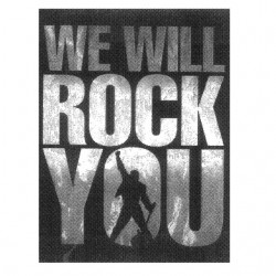 tee shirt we will rock you...