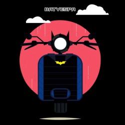 bat vespa t-shirt black sublimation