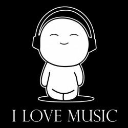 tee shirt I love music  sublimation