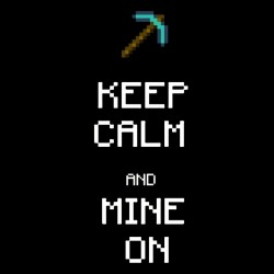 keep calm and mine t-shirt on black sublimation