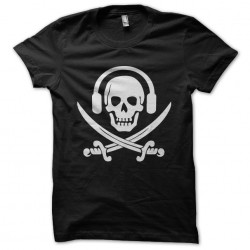 tee shirt skull music radio...